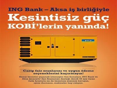 ING Bank, Aksa Jeneratör İşbirliği ile Finansman Kolaylığı Sağlıyor